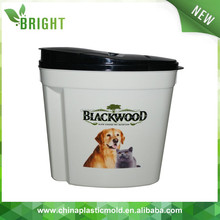 10L 5kg Plastic pet dog cat food storage container with flip lid