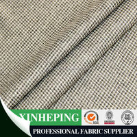 100%polyester black white check knitted cation fabric