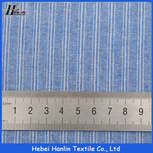 Good quality blue yarn dyed stripe t-shirt cotton fabric