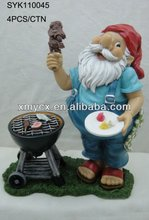Resin barbecue gnome figurine