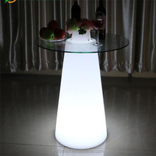 LED Light Up Color Changing Wireless Bar Cocktail High Table Led Wedding Table For Wedding Events