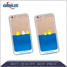 New 3D Liquid Phone Case Rubber Duck Design TPU Phone Case for iPhone 6
