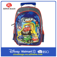 2016 Trolley School Bag for Students Brand Names Leather Trolley Bag for Boy
