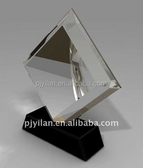 2016 new design unique crystal cube plaque award plaque