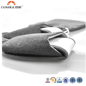 Folding grey terry hotel slippers