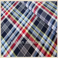 100% cotton yarn dyed plaid fabrics for dress making