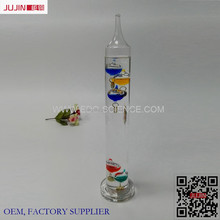 Wholesale Hot Sell Indoor Decoration Colorful Weather Glass Decorate with Temperature Galileo Thermometer