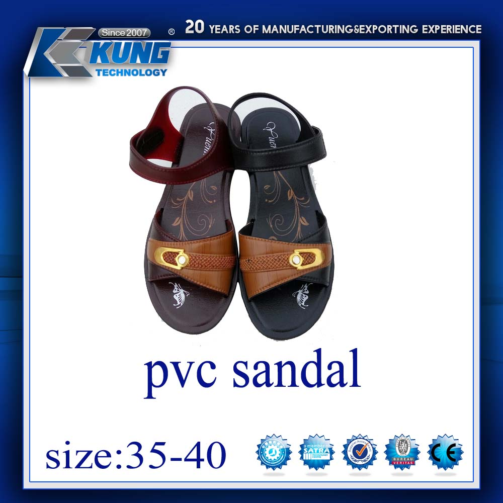 Cheap top sell 2017 high quality ladies pvc sandal