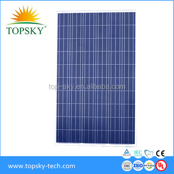 2017 Top brand 255W 260W 265W 270W best quality cheap price solar panels /modules for home use