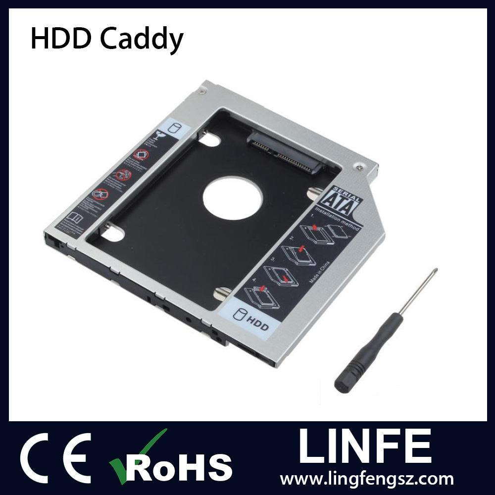 "Laptop Second HDD Caddy SATA 2.5"" 2nd Hard Drive Disk Holder/SSD Caddy"