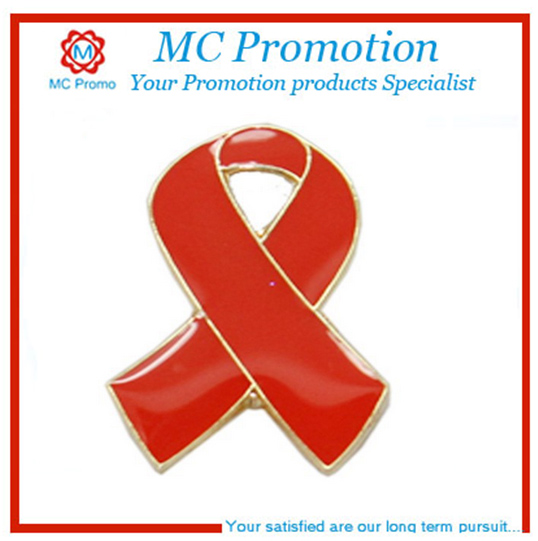 blank cancer ribbon lapel pin for wholesale