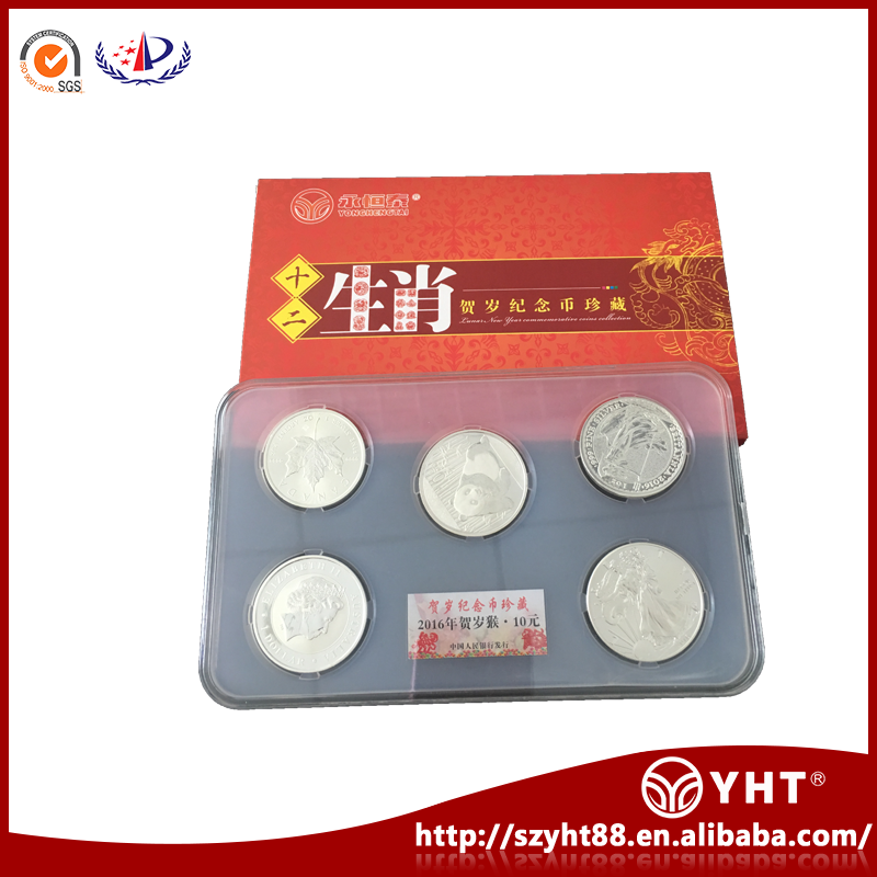 Chinese manufacturers direct PC Acrylic plastic coin protective storage case for 5 coins