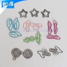 Custom design metal wire paper clips made of PET coated wires stainless steel wires
