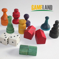 Custom Wooden Board Game Pawns Wooden Board Game Manufacturer Tokens