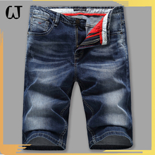 2017hot new products new brand Stone Washed Straight dark blue fifth Jeans Shorts With High Quality china bulk items oem factory