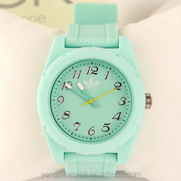 guangzhou wholesale cheap multi color strap silicone wrist watch