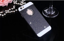 Colorful glitter phone case with diamond hard plastic case for iphone5/6/6 plus cover