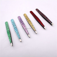 Electrophoresis finish stainless steel eyebrow tweezer