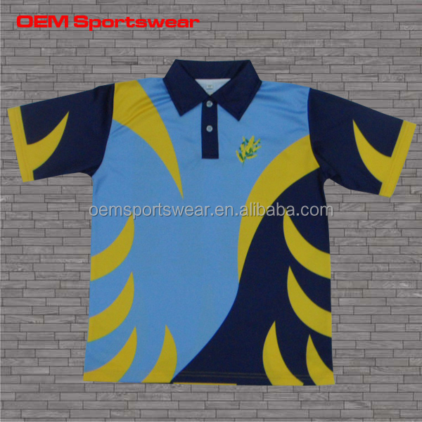 Color combination custom polyester polo men's shirts
