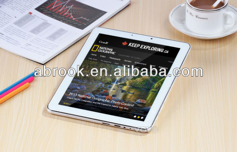 High level 9.7 inch IPS Retina Screen Android 4.2.2 sim card slot tablet exynos 5 octa 5410 8-core