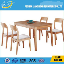 marble top solid wood leg dining table/marble dining set