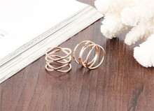 gold plated stackable Knuckle lady finger rings cheap price stylish midi rings for women Finger Ring