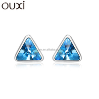 OUXI 2015 New products earrings made of 9.25 sterling silver Y20068