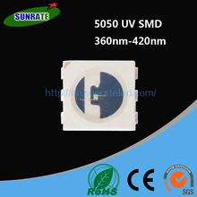 5050 UV SMD LED 360nm 365nm 370nm 375nm 380nm 385nm 390nm 395nm