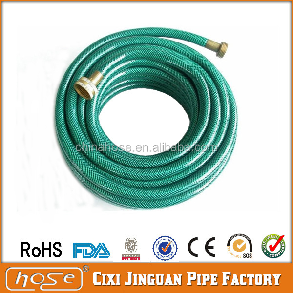 Factory Supply ROHS/Reach/SGS Standard Flexible PVC Hose, No Smell PVC Plastic Netting Garden Water Hose Pipes