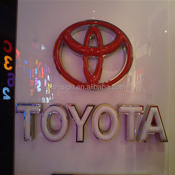 toyota logo sign letter led famous company logos