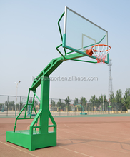 Environmental Portable Basketball System With basketball hoop