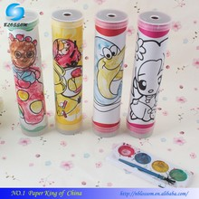 Hot Sale Paint Your Own Promotional Custom Design Paper Kaleidoscope DIY