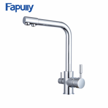 3 way kitchen faucet with pure water flow filter tap 3 way stainless steel waer purifier faucet 3 way stainless steel water tap