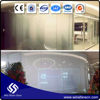 Smart glass shower building black tinting