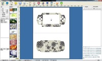For ps4 decal template Sticker printing machine