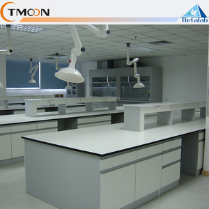 Customized Chemistry laboratory equipment furniture heavy duty work table workbench with drawer