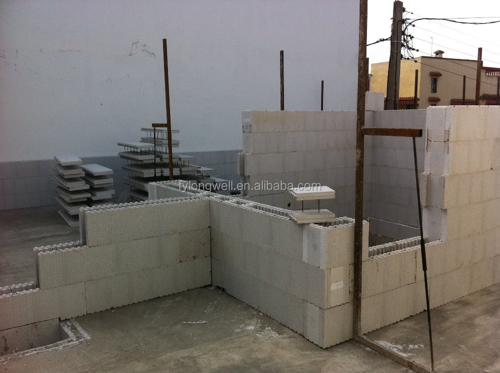High quality eps icf mold insulated concrete forms foam for Cement foam blocks