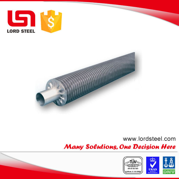 Stainless steel 316 aluminum extruded finned tube for heater, air cooler, condenser