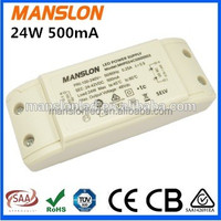 Supplier TUV CE SAA approved Moso 500mA 700mA constant current led driver module 24W LED switching power supply