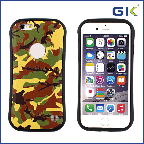 [GGIT] Wholesale 3D Camouflage Design 2 in 1 TPU+PC Hybrid Combo Case For IPhone 6