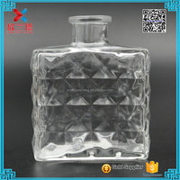 hot design aroma diffuser perfume glass bottles with cork stoppers