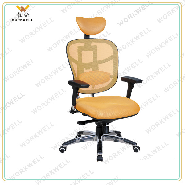 WORKWELL Zhejiang Anji 2015 Hot Selling Mesh Office Chair With Headrest KW-F6098a