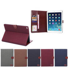 Factory Wholesale Book Style Retro Vintage PU Leather Wallet Flip Case Cover for iPad Air 2