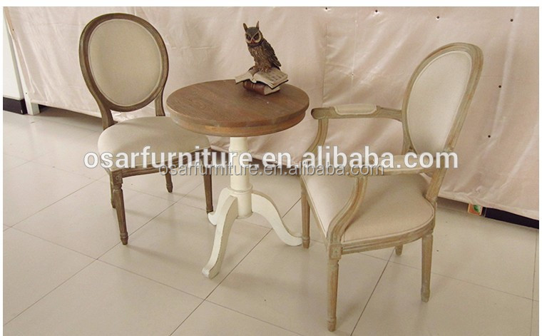 Birch wood small round tea tables and chairs sets