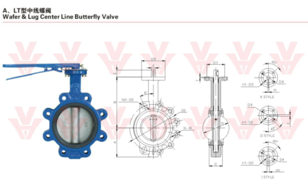 "wafer & lug center line butterfly valve 2""-40"""
