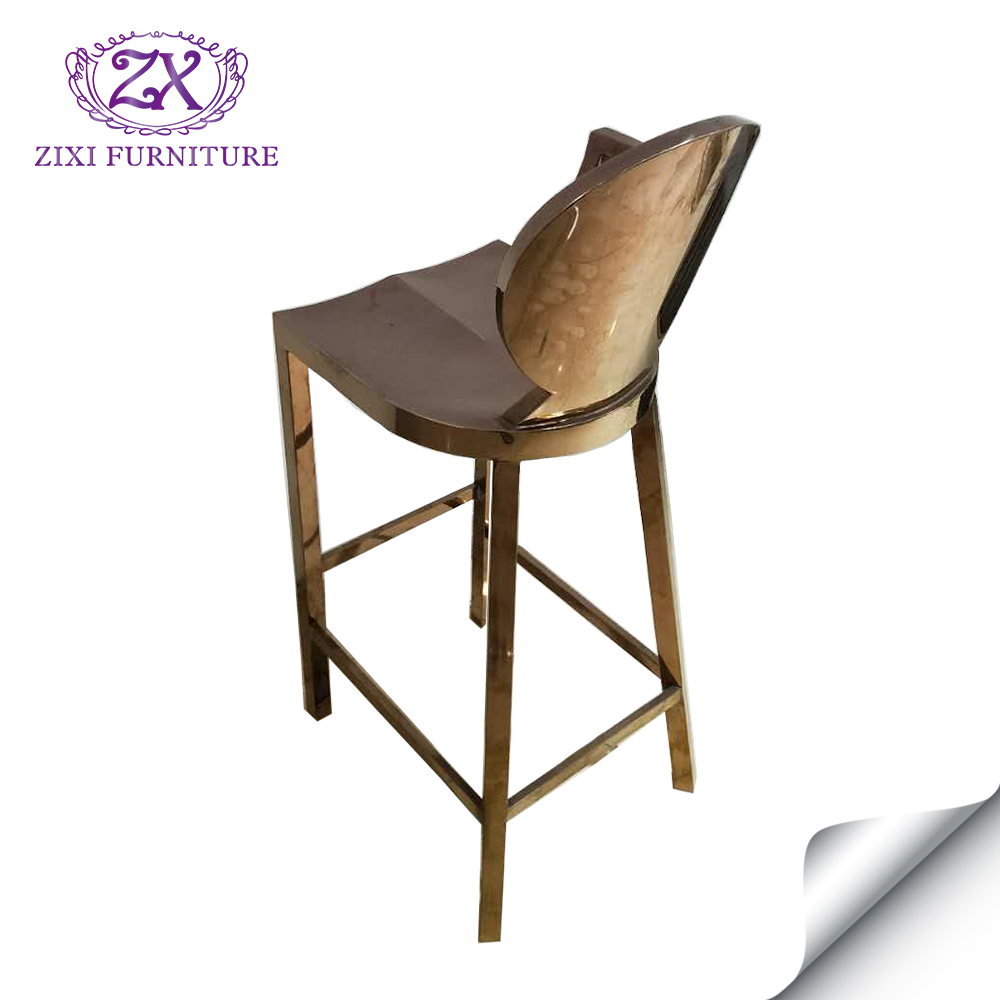 stainless construction steel metal bar stools chair