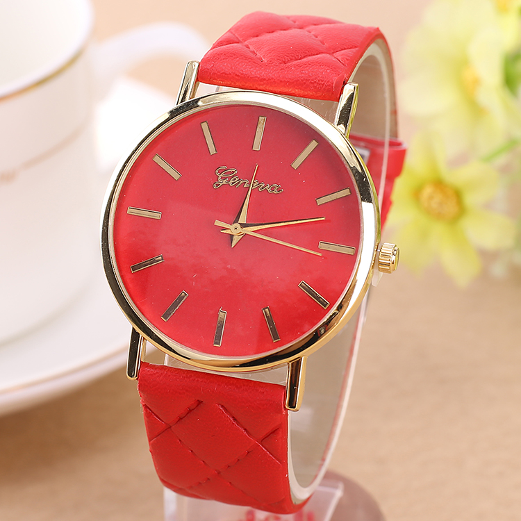 geneva casual sports watches for men leather analog display quartz watch alibaba china wholesale