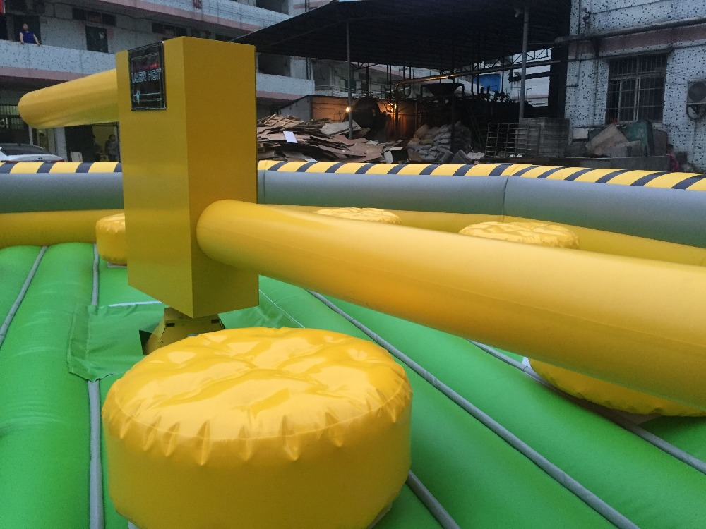 8m*8m inflatable wipeout for sale/yellow customized inflatable wipeout/best quality inflatable sweep games for sale