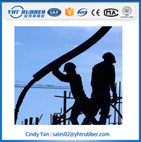 "3"" 76mm flexible rubber hose for injection concrete"