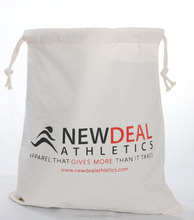 Alibaba customizable durable 100% cotton drawstring bag wholesale.